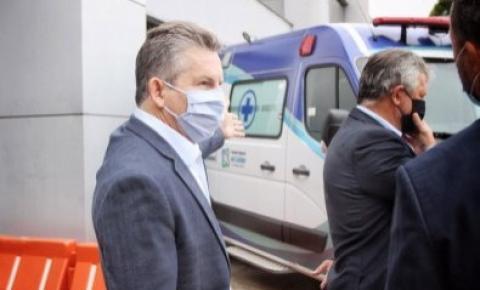 Mauro Mendes nega ida a SP, faz exames e retorna ao isolamento em casa em MT VEJA VÍDEO