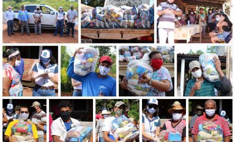 Famílias de assentamento em Aragarças recebem alimentos na luta contra pandemia