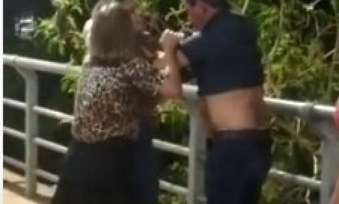 Vídeo mostra jornalista renomado de MT apanhando de mulher VEJA VÍDEOS