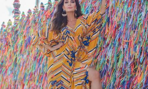 Claudia Métne supreende seus seguidores realizando uma fashion trip em Salvador .