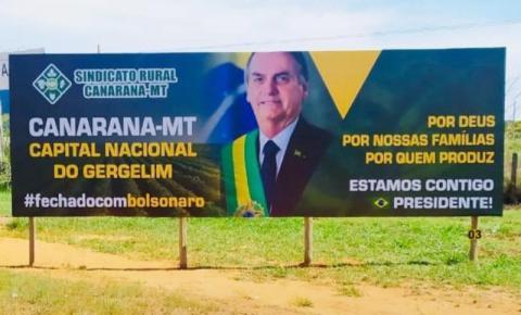 Promotor manda retirar outdoor de Bolsonaro e vira polêmica no Araguaia