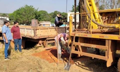 Thiago Timo viabiliza poço artesiano para distrito de Pouso Alto, em Torixoréu